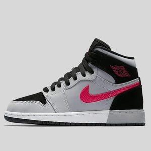 Air Jordan 1 Retro High GG Black Pink Grey White